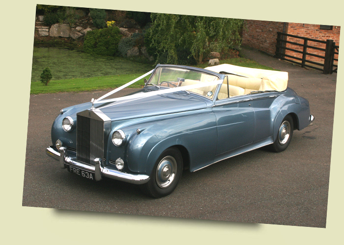 Rolls Royce Silver Cloud II 4 Door Convertible Caribbean Blue Wedding and Prom Car Hire