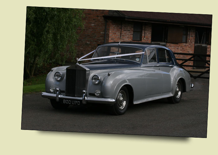 Rolls Royce Silver Cloud II Georgian Silver over Royal Blue Wedding and Prom Car Hire