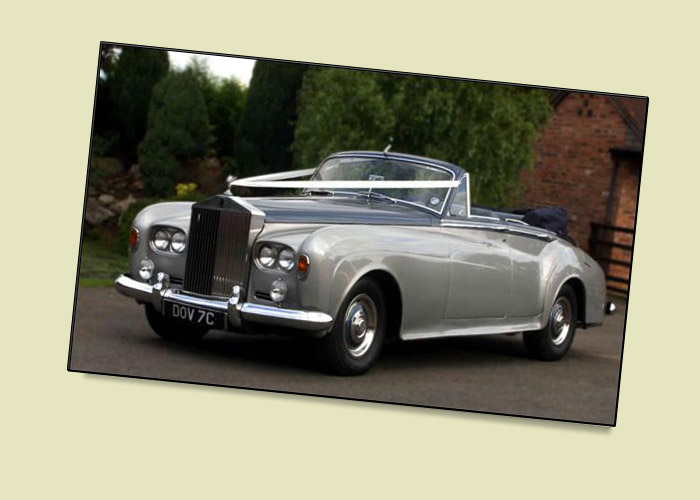 Rolls Royce Silver Cloud III 4 door convertible Wedding and Prom Car Hire