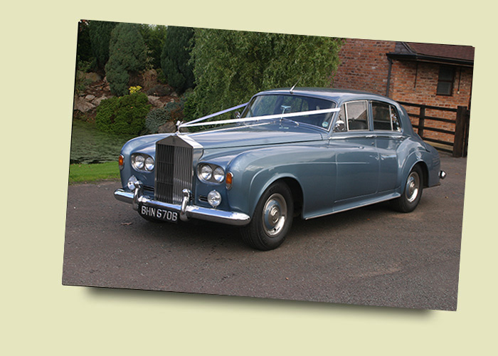 Rolls Royce Silver Cloud III Caribbean Blue Wedding and Prom Car Hire