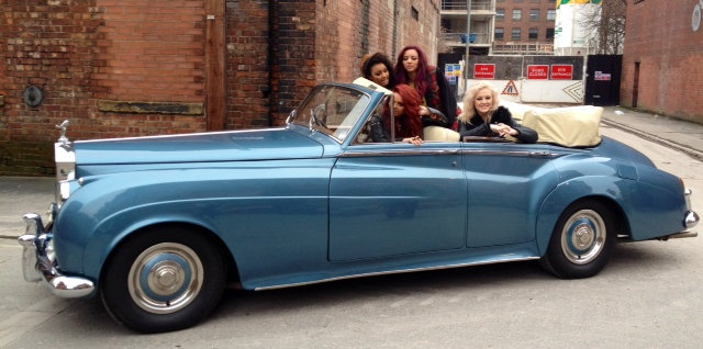 Rolls Royce Silver Cloud II 4 Door Convertible Enjoyed by Little MIx